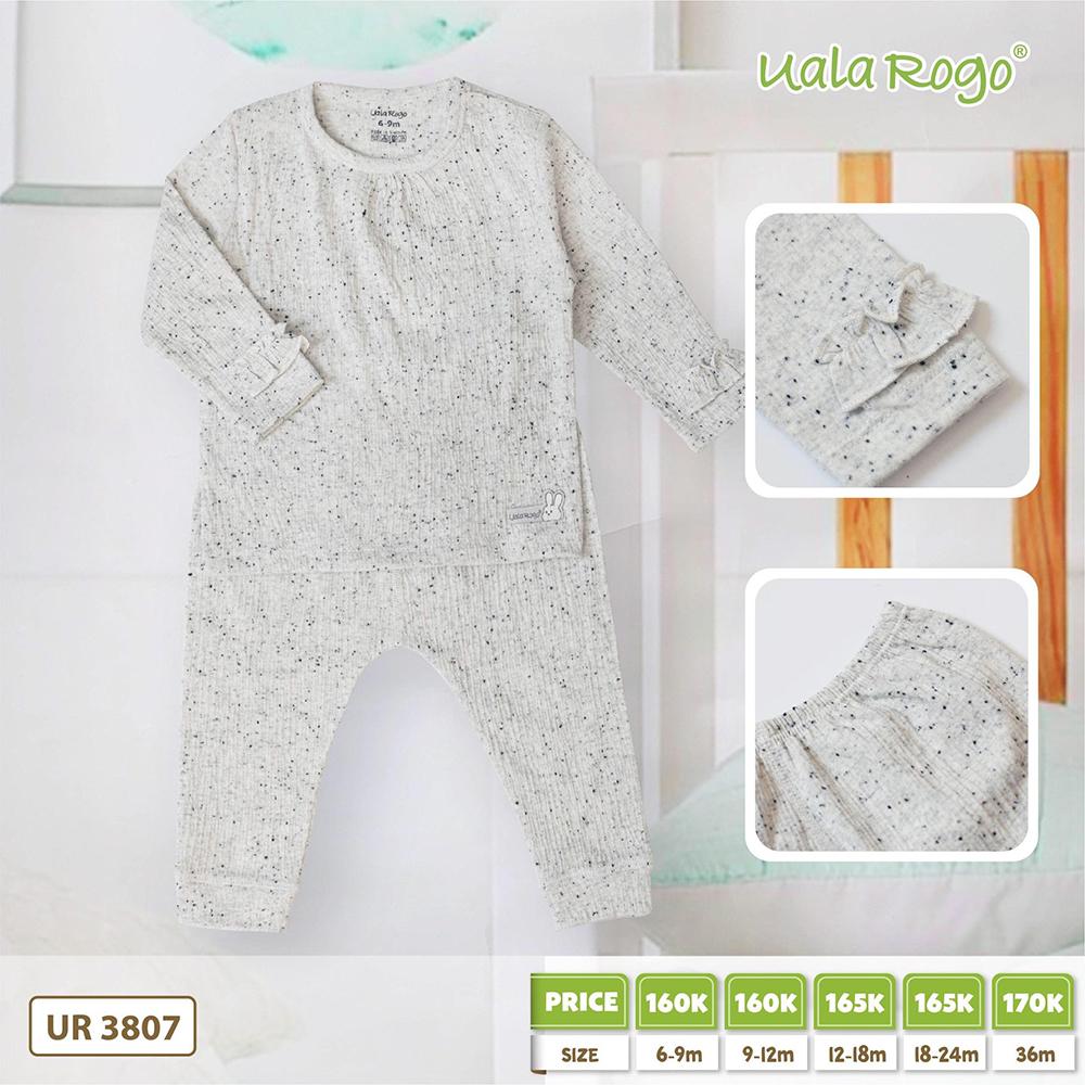 UR3807.2 - Bộ dài tay họa tiết hạt tiêu vải cotton Uala Rogo
