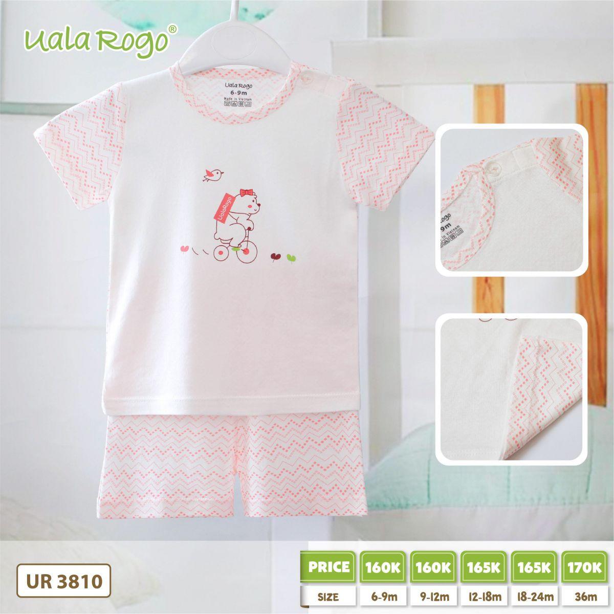 UR3810.hồng- Set đồ đùi gấu hồng Uala Rogo