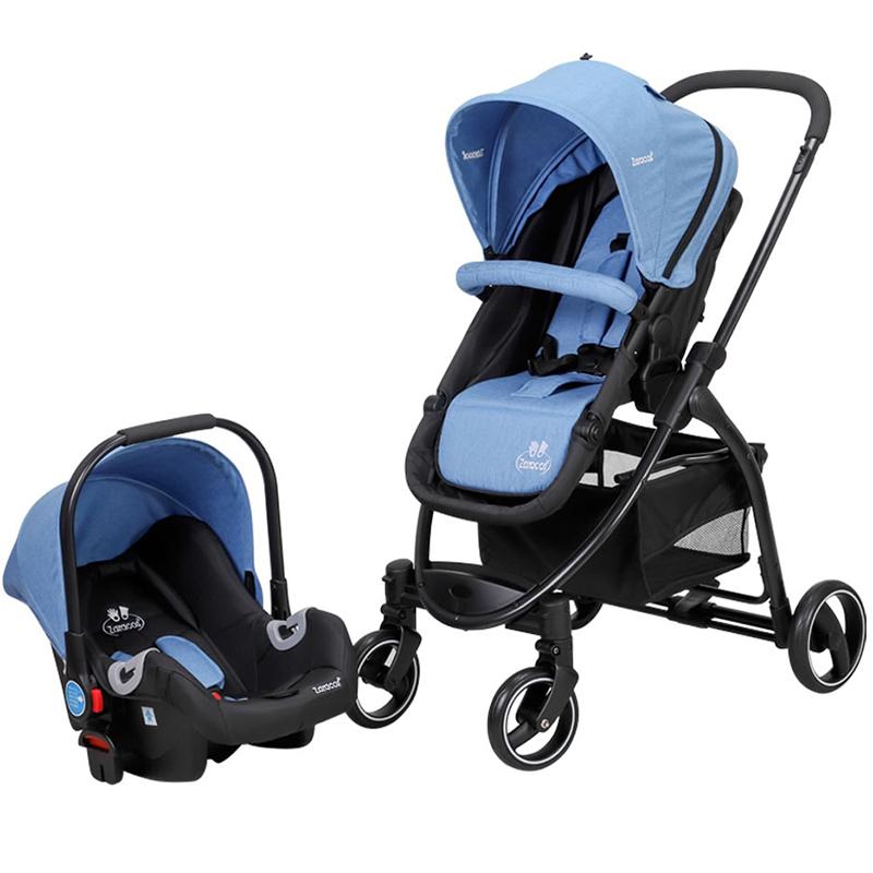 Xe đẩy & Ghế ngồi ô tô cho bé Zaracos Coron 4606 Blue