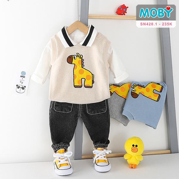 SN420.1 - Set áo thun, áo khoác & quần cho bé