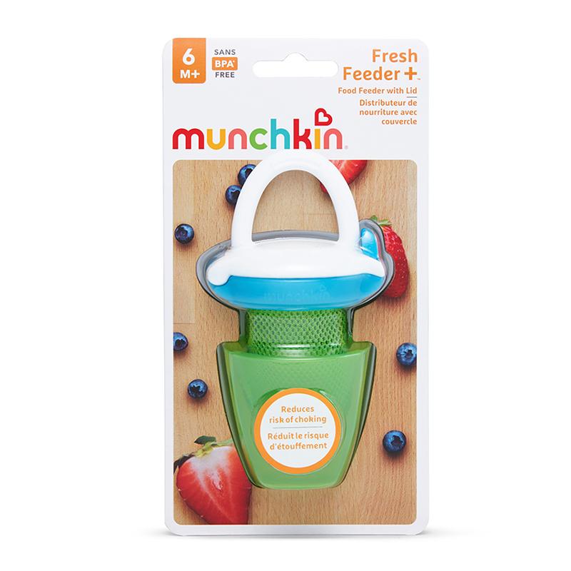 Túi ăn chống hóc có nắp Munchkin màu xanh