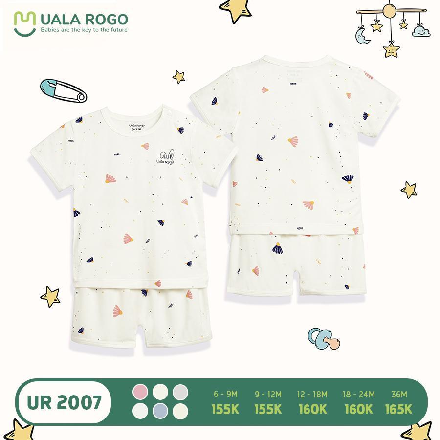 UR2007.6 - Bộ quần áo cộc tay Uala Rogo - Màu trắng