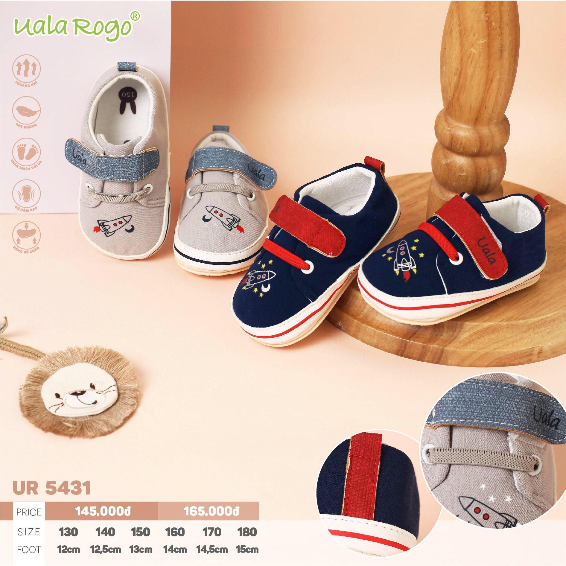 UR5431 - Giày tập đi cho bé gái Uala Rogo đế cao su non