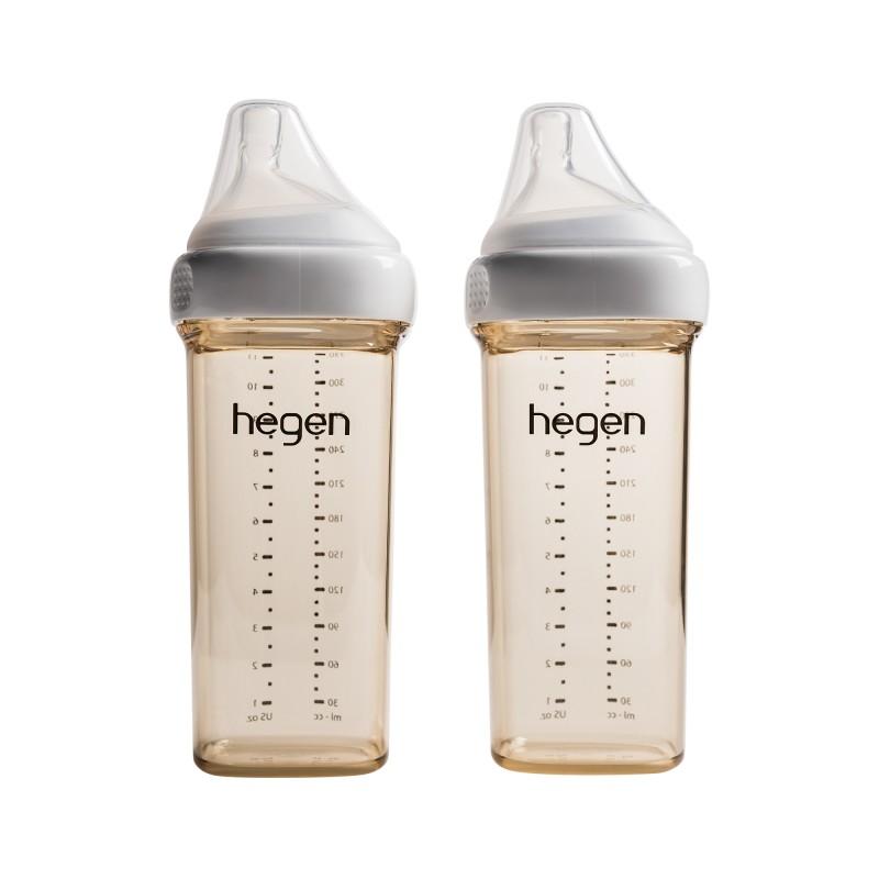 Bình sữa Hegen PPSU 330ml núm ti dành cho bé trên 6 tháng tuổi (2-Pack)