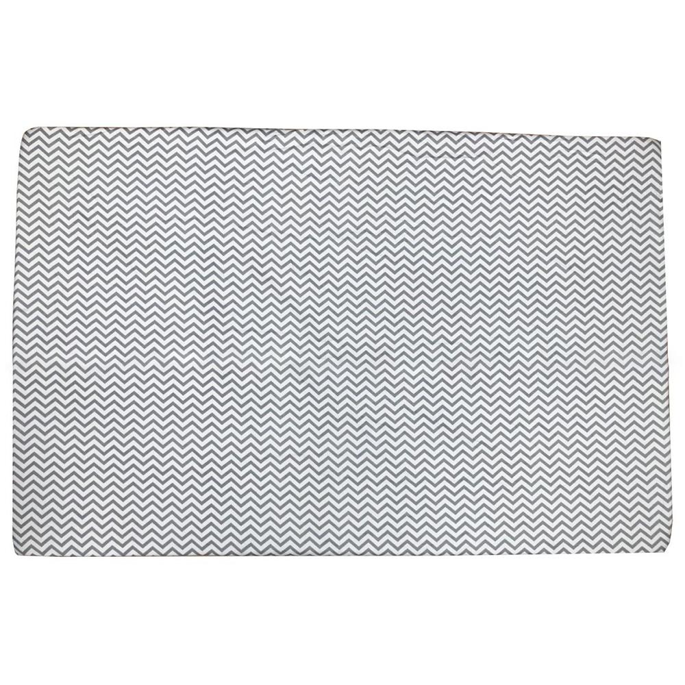 Ga vải bọc đệm cũi cho bé (72x110, Zích Zắc Ghi)