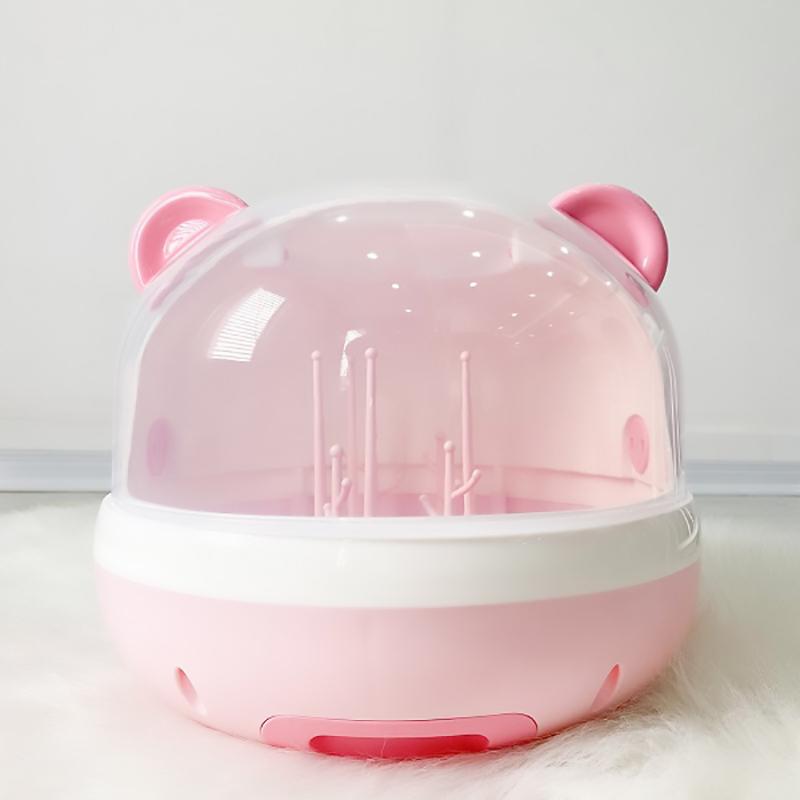 Giá úp bình hình gấu Doux BeBe màu hồng