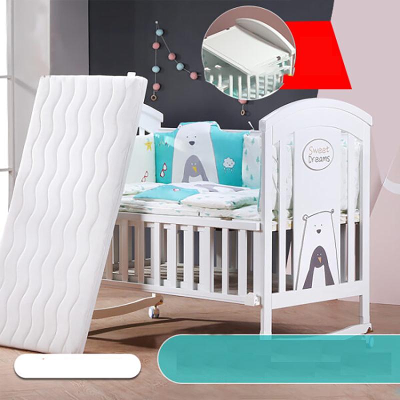 Nôi cũi em bé đa năng Chilux - NCT01 (Trọn bộ cũi quây đệm Cotton)