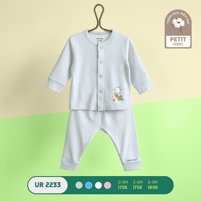 UR2233.4 - Bộ quần áo Uala Rogo dài tay cài giữa vải petit - Màu xám