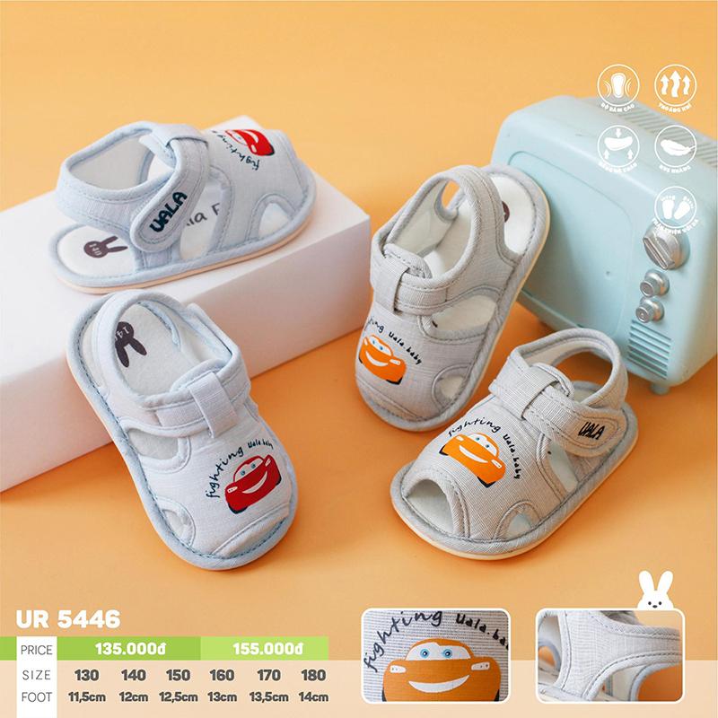 UR5446.2 - Giày tập đi cho bé ô tô cam Uala Rogo