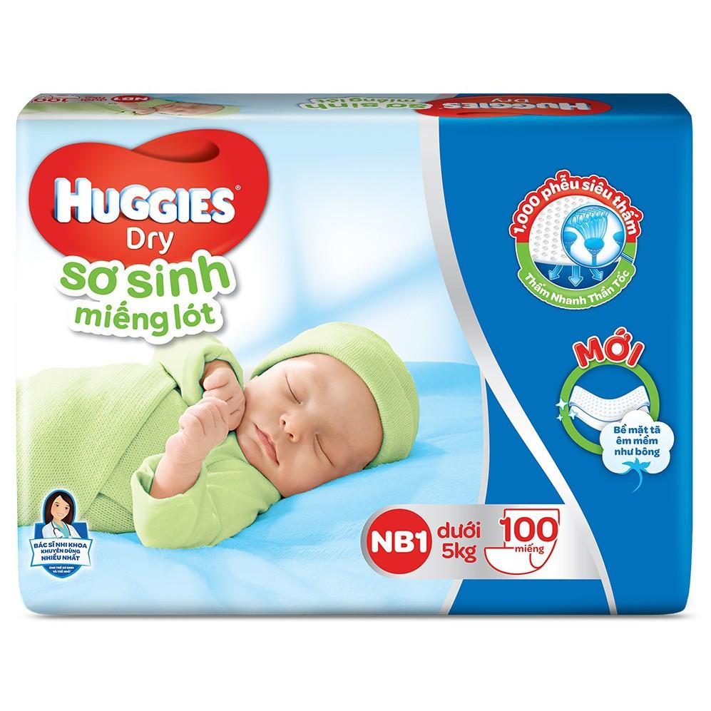 Bỉm - Miếng lót sơ sinh Huggies size NB1 - 100 miếng (Cho trẻ dưới 5kg)