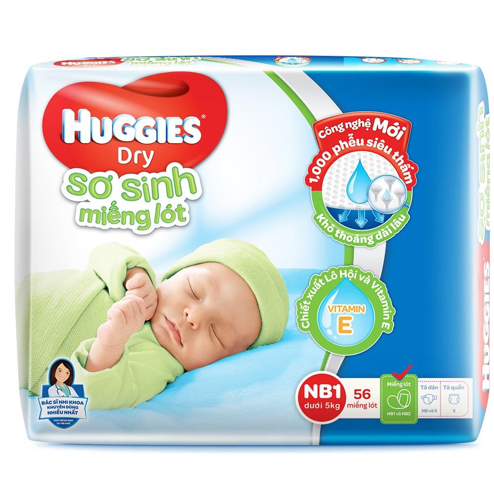 Bỉm - Miếng lót sơ sinh Huggies size NB1 - 56 miếng (Cho trẻ dưới 5kg)