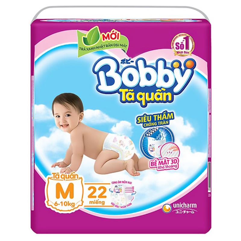 Bỉm - Tã quần Bobby Fresh size M - 22 miếng (6 - 10kg)