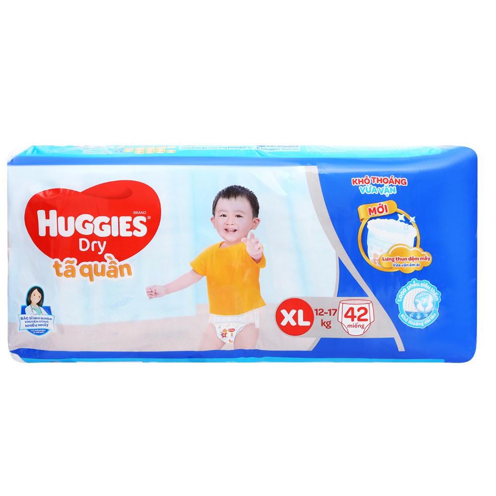 Bỉm - Tã quần Huggies size XL - 42 miếng (Cho bé 12 - 17kg)