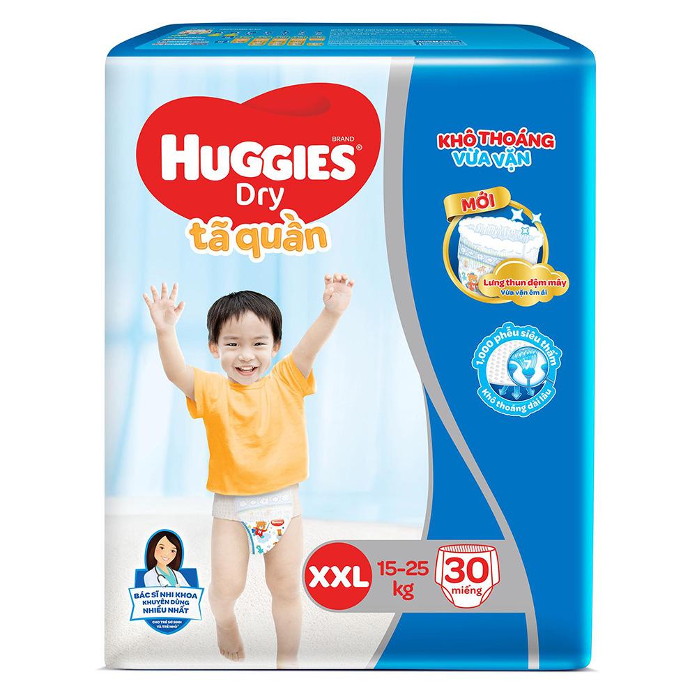 Bỉm - Tã quần Huggies size XXL - 30 miếng (Cho bé 15 - 25kg)