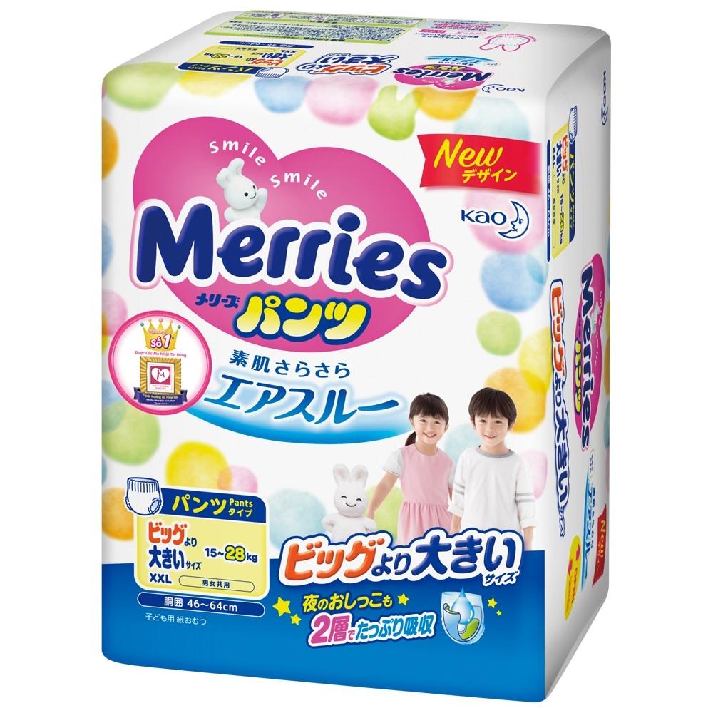 Bỉm - tã quần Merries Size XXL - 26 Miếng