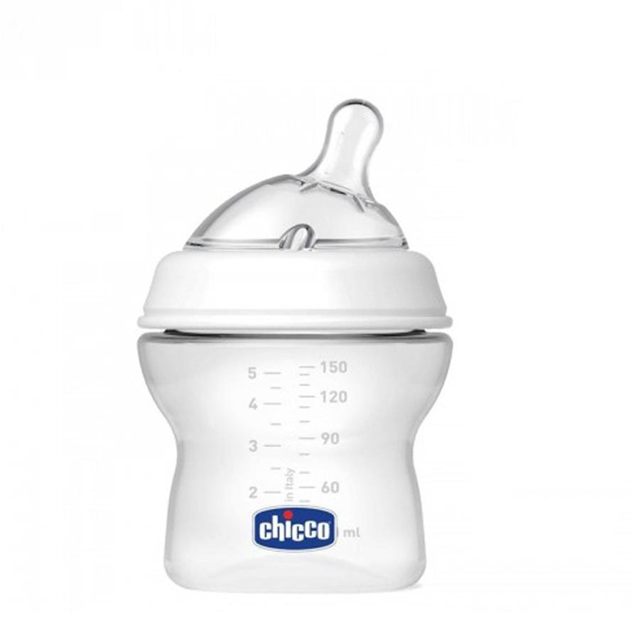 Bình sữa núm nghiêng Pisa Natural Feeling 0M+ chicco 150ML