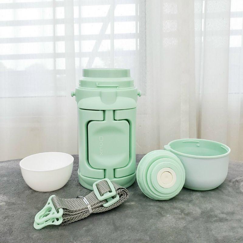 Bình ủ cháo giữ nhiệt Doux màu xanh