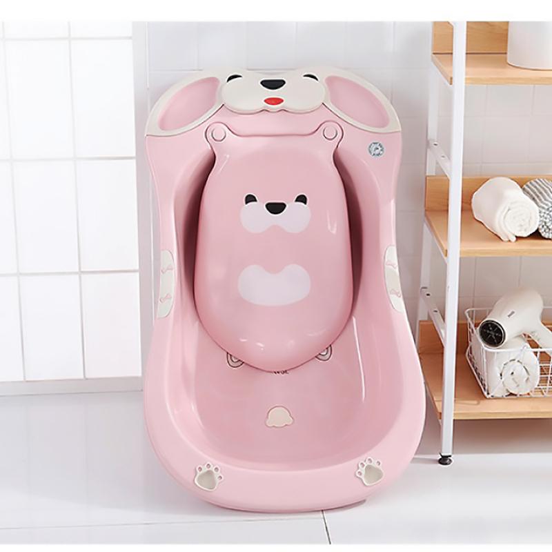 Chậu tắm Gấu Pomo màu hồng