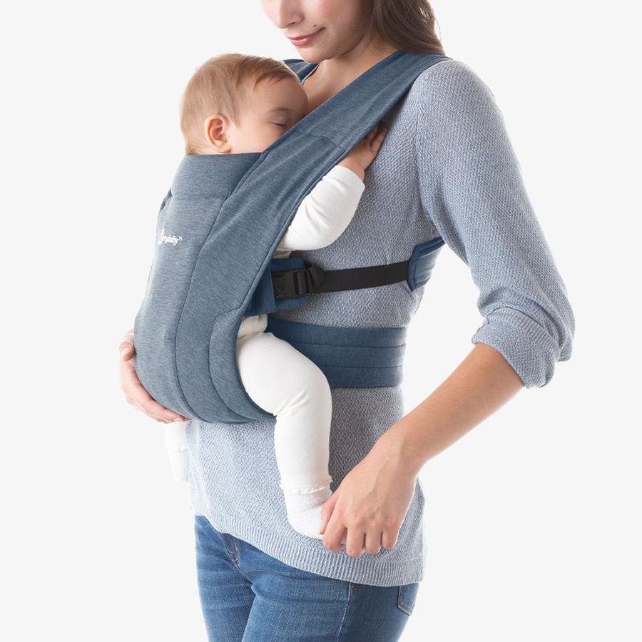 Địu cho bé mới sinh Ergobaby Embrace Cozy – Màu xanh Oxford
