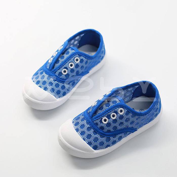 GB6.1 - Giày Chấm Bi Xanh cá tính cho bé (Trai + Gái)