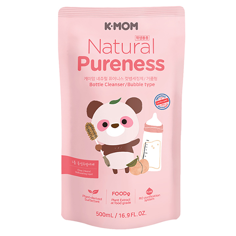 Nước rửa bình & rau quả hữu cơ K-Mom Hàn Quốc (dạng túi 500ml)