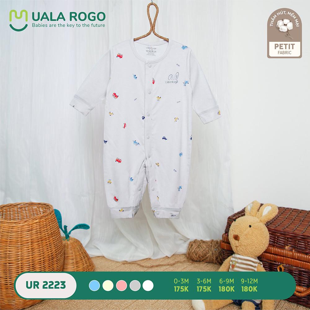 UR2223.2 - Bộ body dài vải petit Uala Rogo - Màu xám