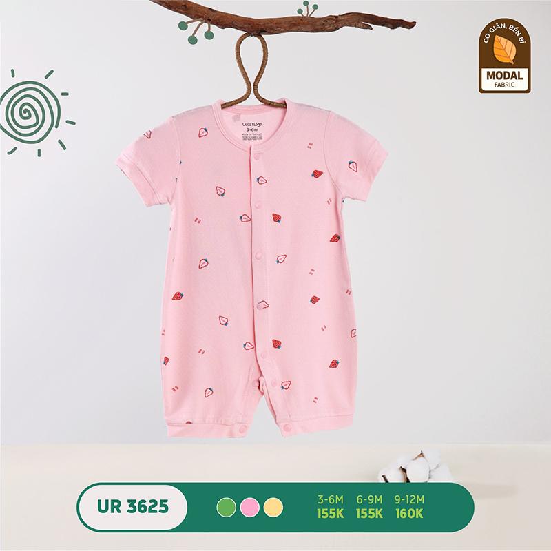 UR3625.1 - Bộ bodysuit (áo liền quần) Uala Rogo vải sợi sồi - Màu hồng