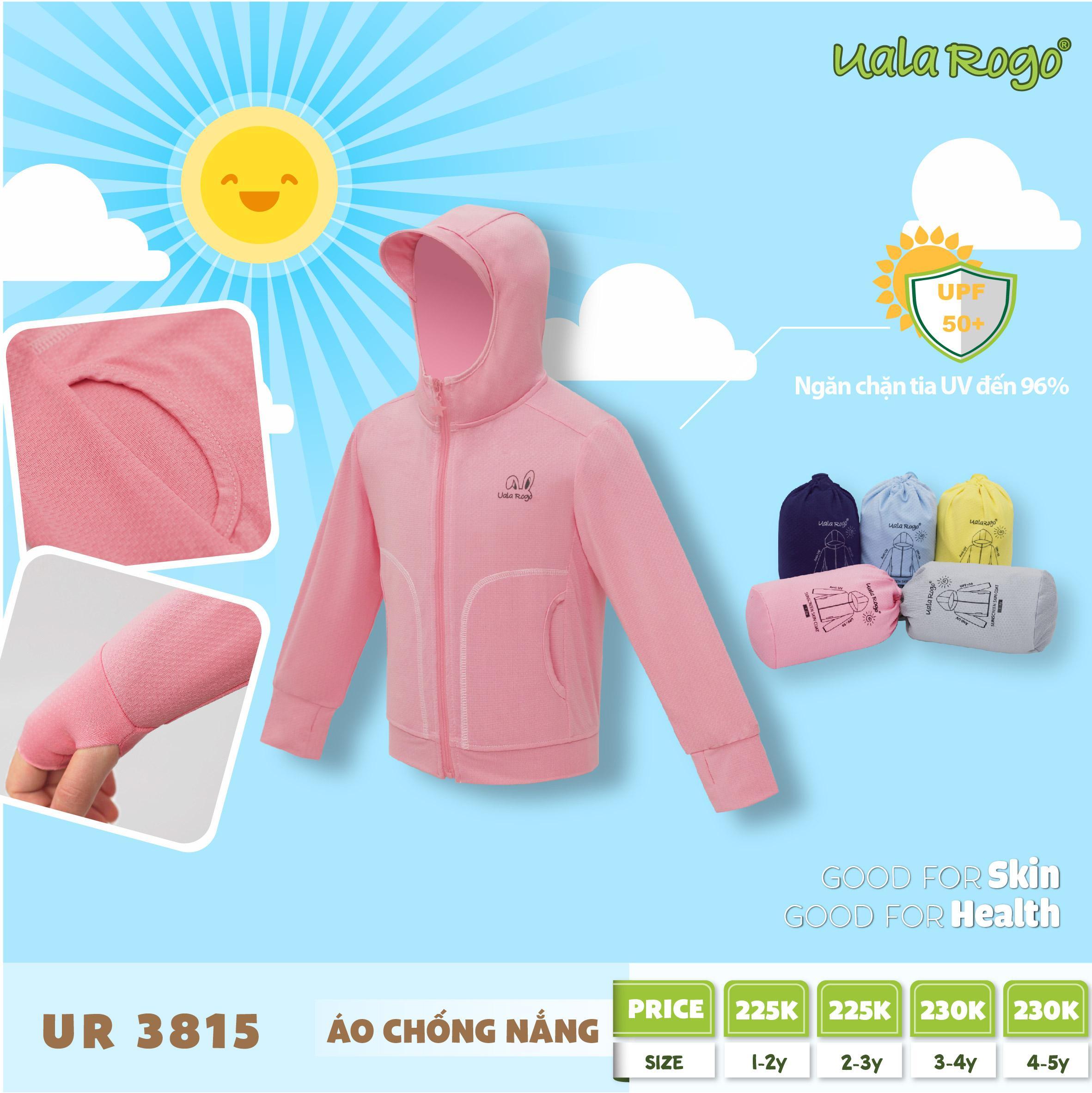 UR3815.5- Áo khoác chống nắng cho bé Uala Rogo