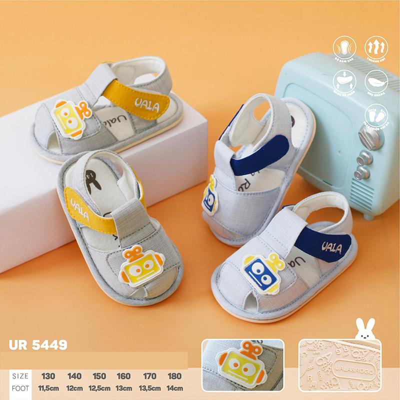 UR5449.2- Giày tập đi cho bé hoạt hình màu xanh Uala Rogo