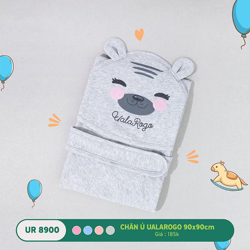 UR8900.2 - Chăn ủ cho bé Uala Rogo 90x90cm hình gấu màu xám