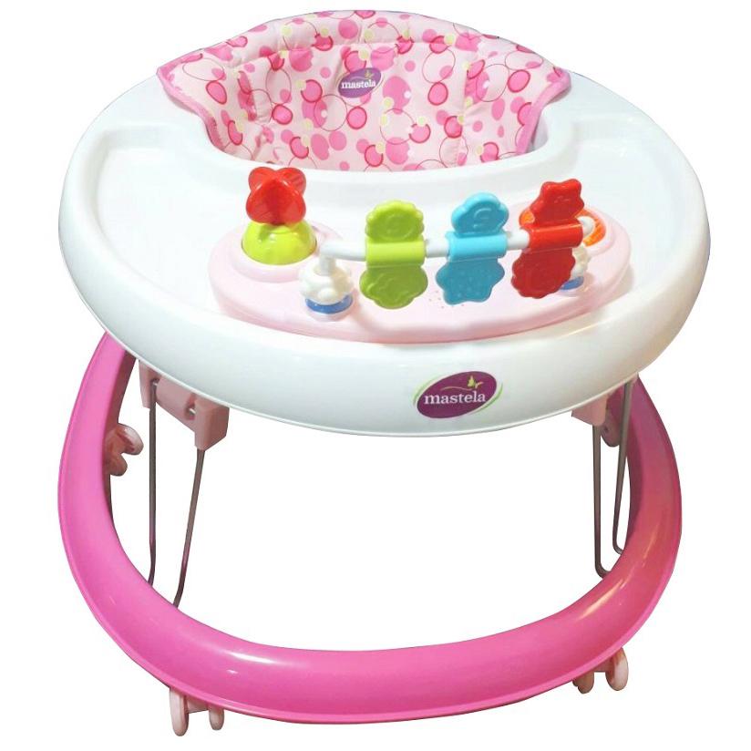 Xe tập đi có đồ chơi Mastela W2002 - Màu hồng
