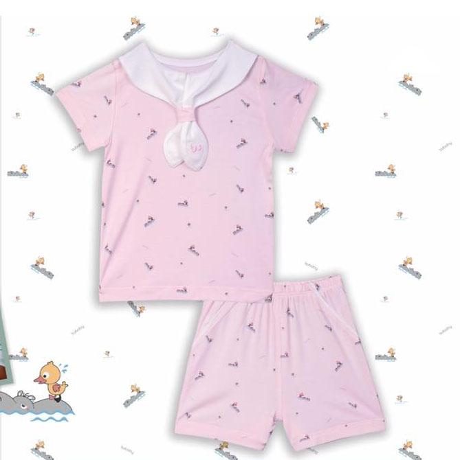 BB033.pink- Set đồ cổ hải quân tay cộc- Bu