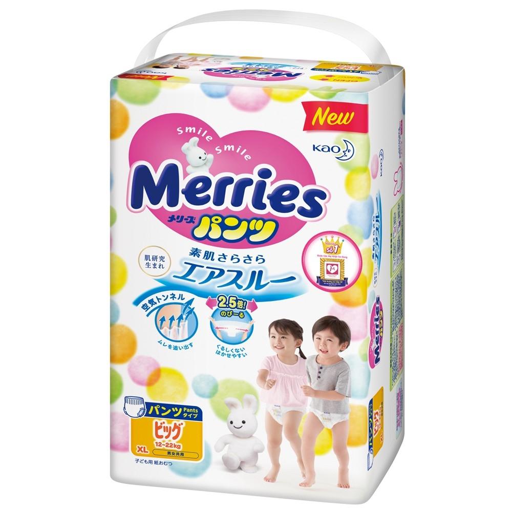 Bỉm - Tã quần Merries Size XL - 38 Miếng (cho bé 12 - 22kg)