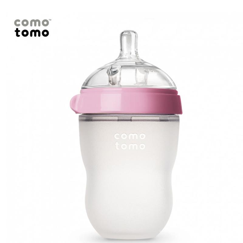 Bình Sữa Comotomo 250ml (Tách lẻ) - Màu Hồng