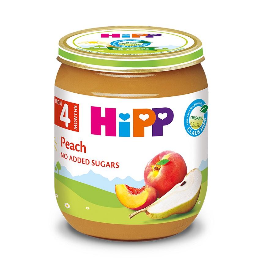 Dinh dưỡng đóng lọ HiPP đào tây 125g 4+ AL4202-01