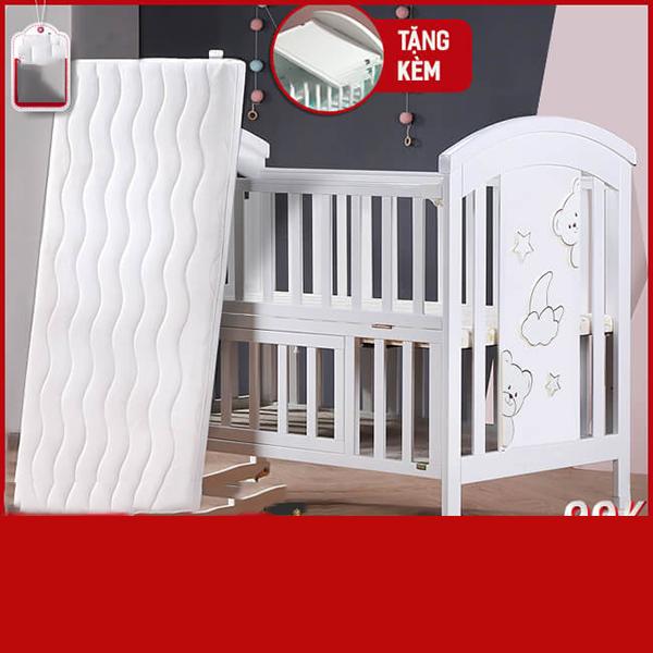 Nôi cũi em bé đa năng Chilux – NCT01-2 (Cũi+ nệm sơ dừa)