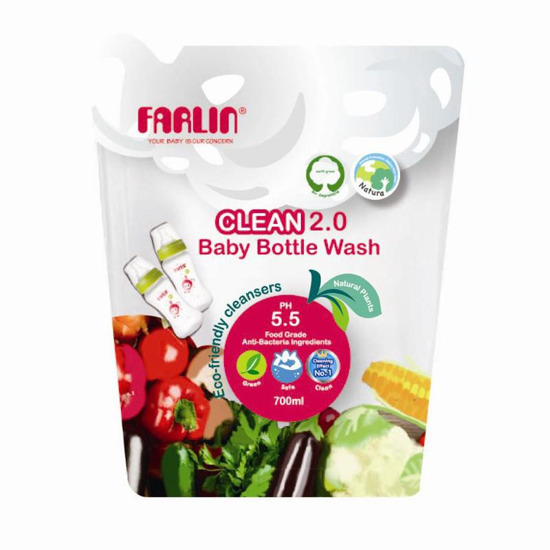Nước rửa bình sữa Farlin AF10005 700ml (dạng túi)