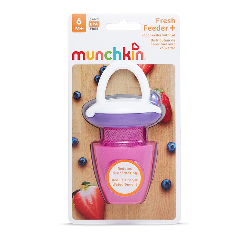 Túi ăn chống hóc có nắp Munchkin màu tím