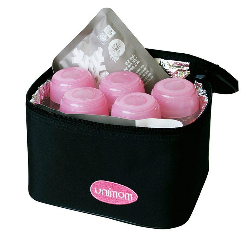Túi Giữ Lạnh Sữa Unimom UM870016 (Gồm 5 Bình PP Và 2 Miếng)