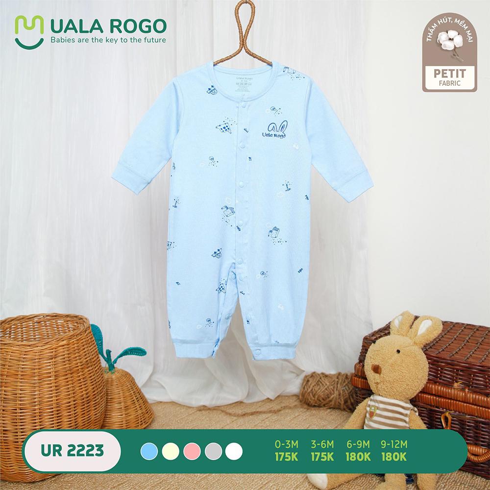 UR2223.4 - Bộ body dài vải petit Uala Rogo - Màu xanh