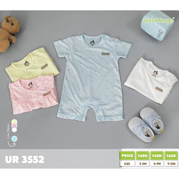UR3552.1 - Bộ Baby cộc tay cài nút vai cho bé - Màu xanh
