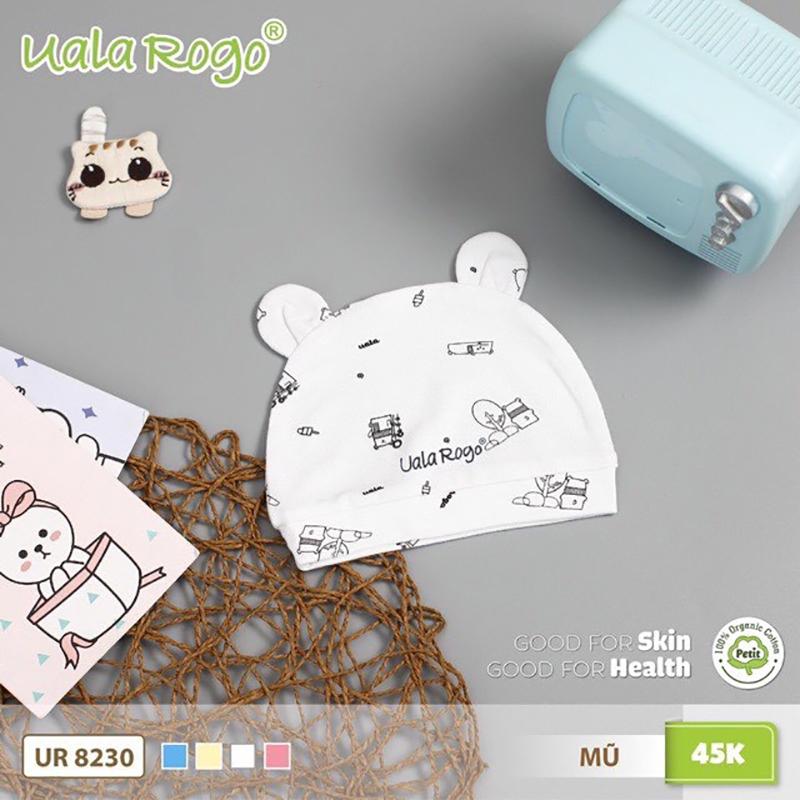 UR8230.4 - Mũ sơ sinh Uala Rogo - Màu trắng