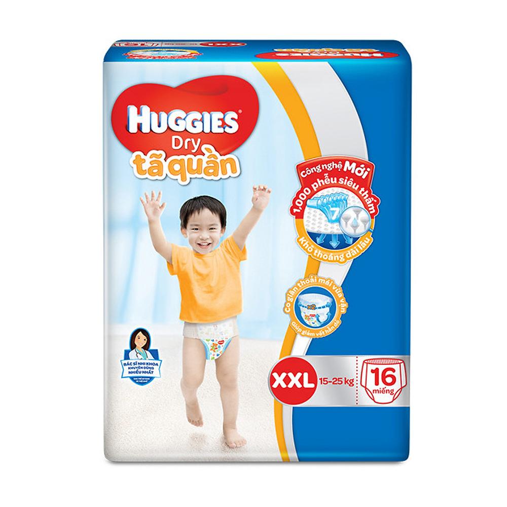 Bỉm - Tã quần Huggies size XXL - 16 miếng (Cho bé 15 - 25kg)