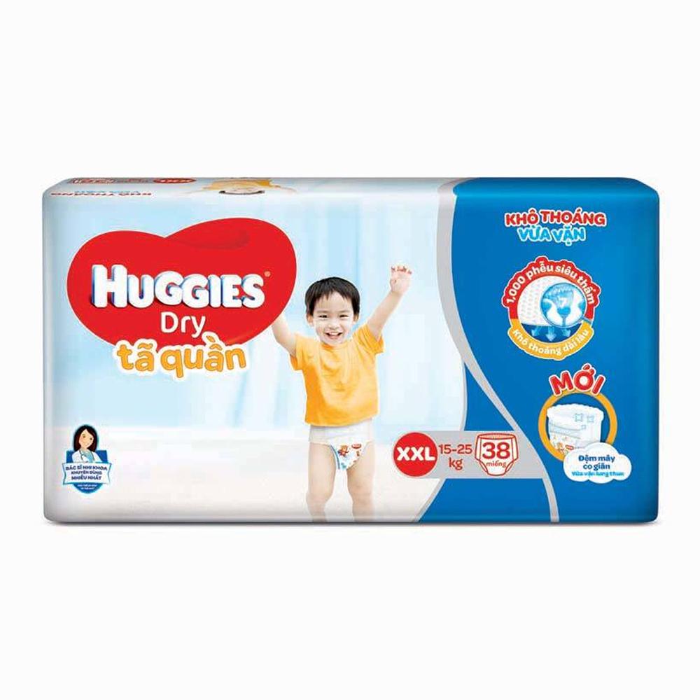 Bỉm - Tã quần Huggies size XXL - 38 miếng (Cho bé 15 - 25kg)