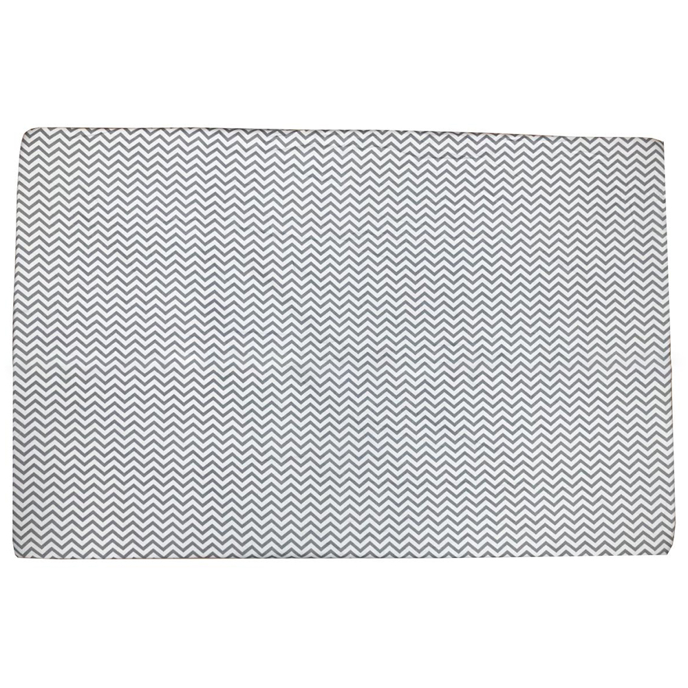 Ga vải bọc đệm cũi cho bé (75x120, Zích Zắc Ghi)