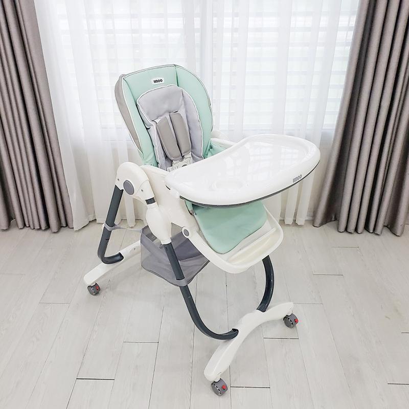 Ghế ăn cao Umoo U-04 màu xanh mint