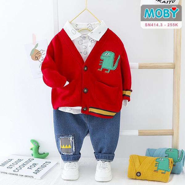 SN414.3 - Set áo khoác, áo sơ mi & quần Jeans cho bé