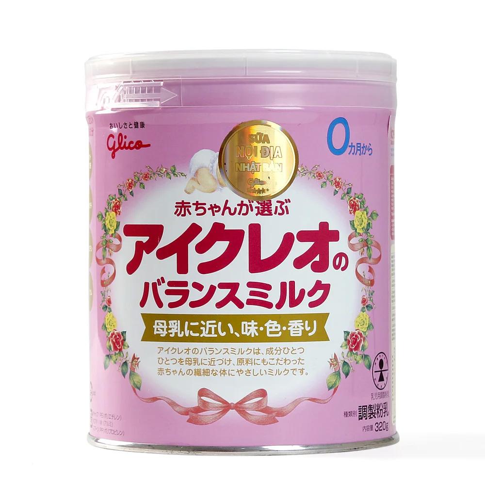 Sữa Glico Icreo số 0 320g (0 - 12 tháng)