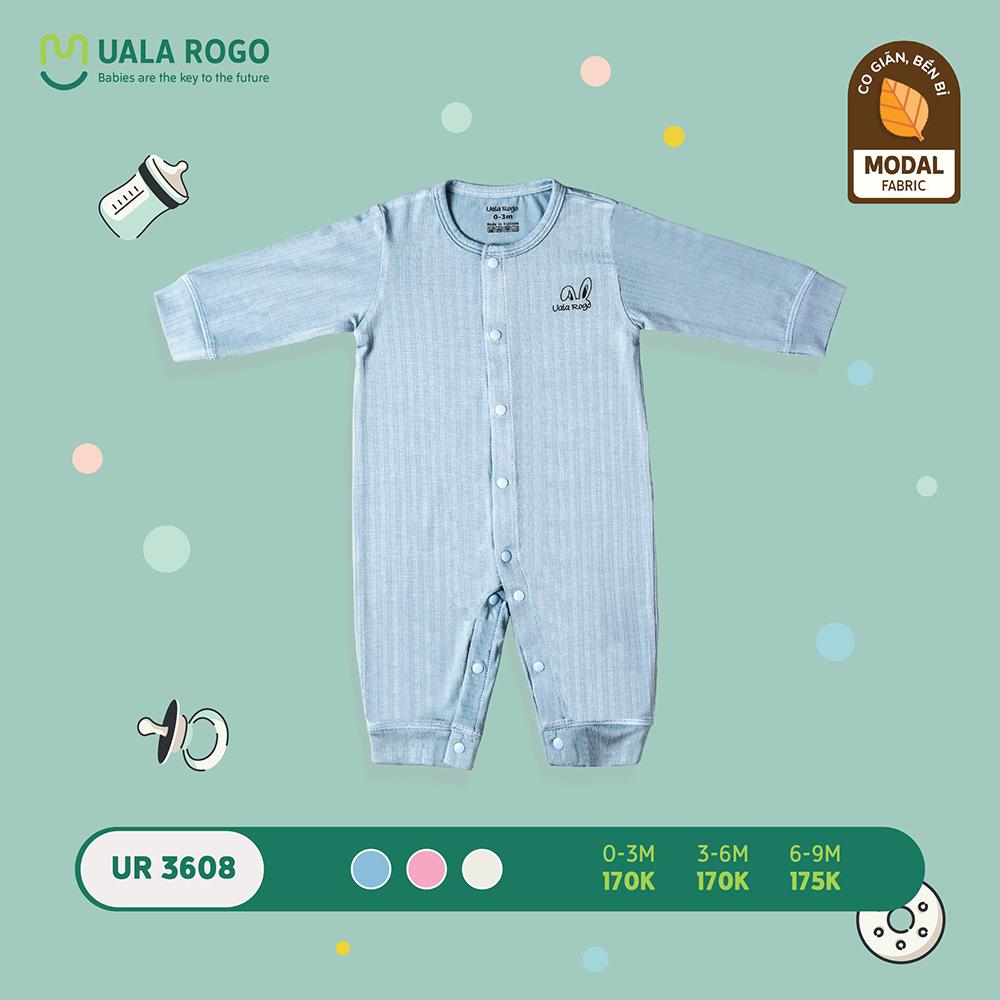 UR3608.1 - Bộ body dài trơn vải sợi sồi Uala Rogo - Màu xanh