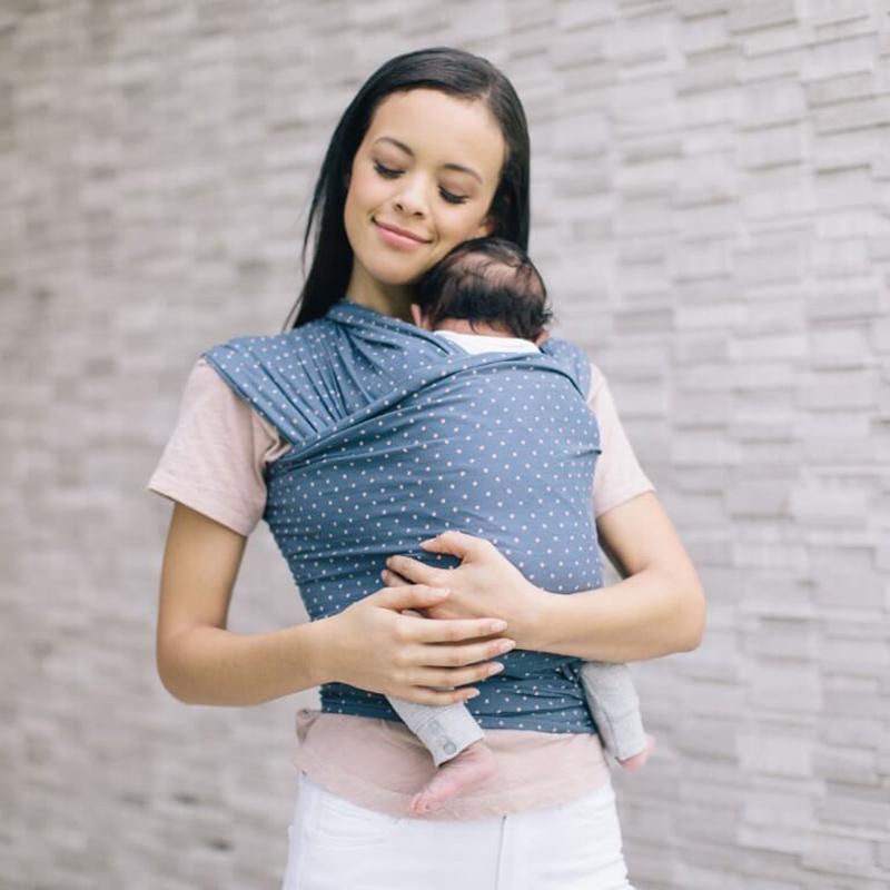 Địu cho bé Ergobaby Aura Baby Wrap - Coral Dots